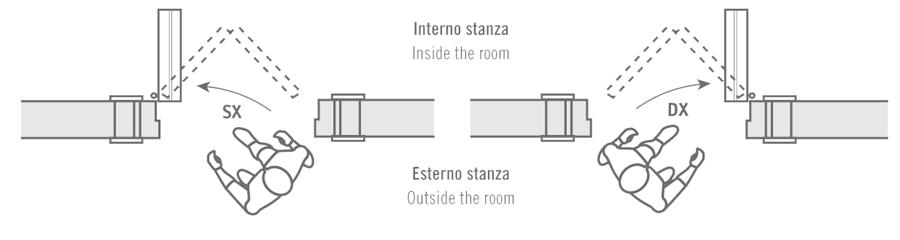 Door swing porte interne in legno geronazzo italian - Porta di roma apertura ...
